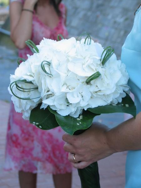 Bouquet con le ortensie quante di voi organizzazione for Ortensie bianche